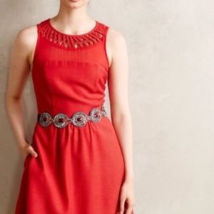 NWT Anthropologie Mauve Red Dress - Size 4